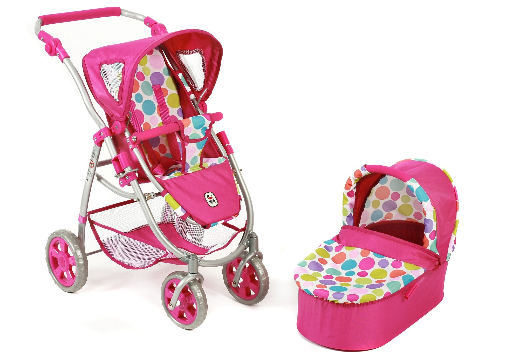 CHIC2000 2-in-1 Puppenwagen, »Emotion, Pinky Bubbles«