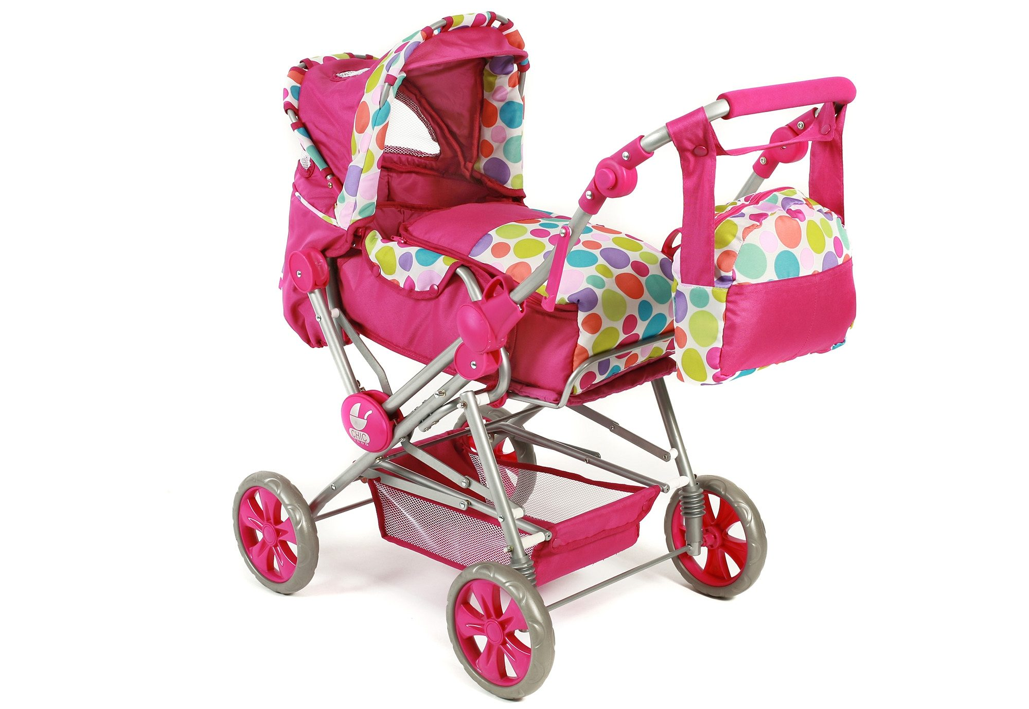 CHIC2000 Puppenwagen mit Tasche, »Road Star, Pink Bubble«