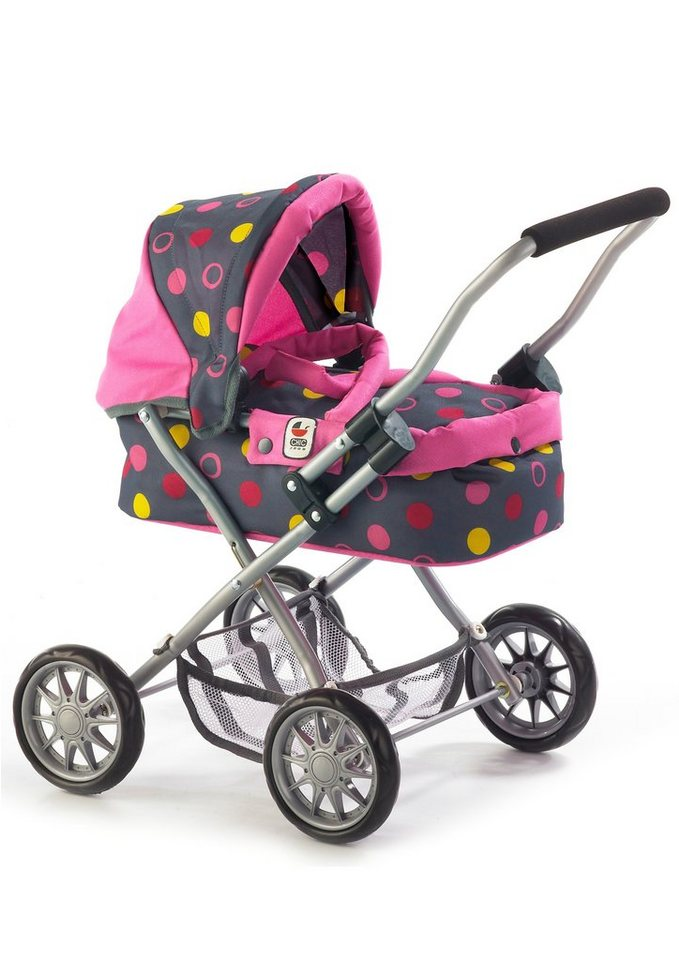 CHIC2000 Puppenwagen, »Smarty, Funny pink« in grau/pink