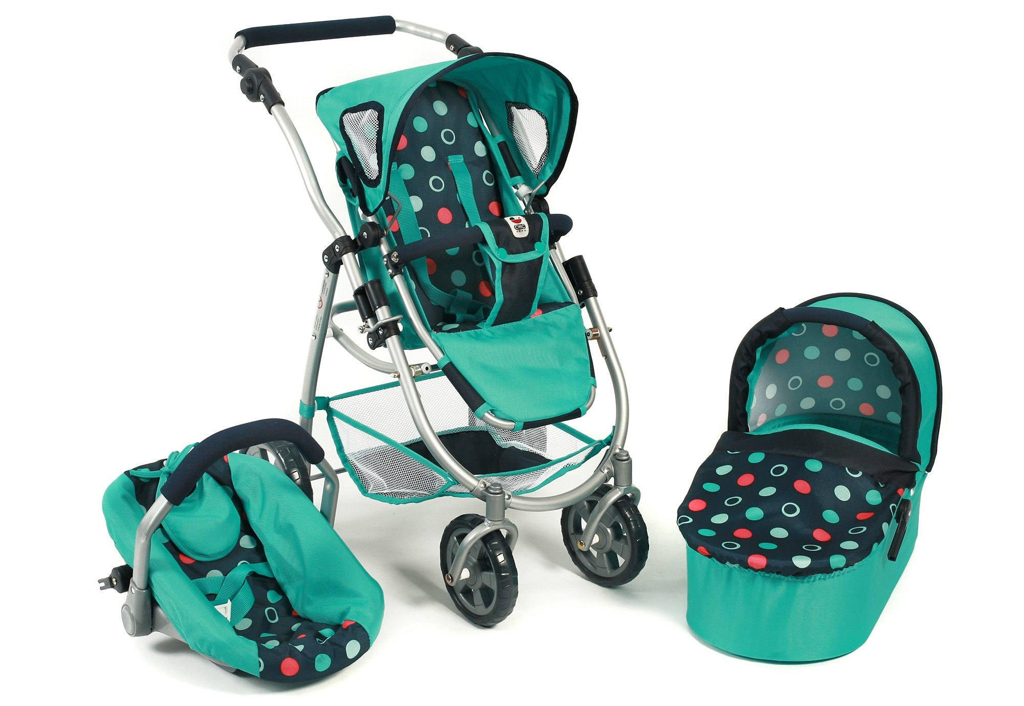 CHIC 2000 3-in-1 Puppenwagen, »Emotion all in, menta«