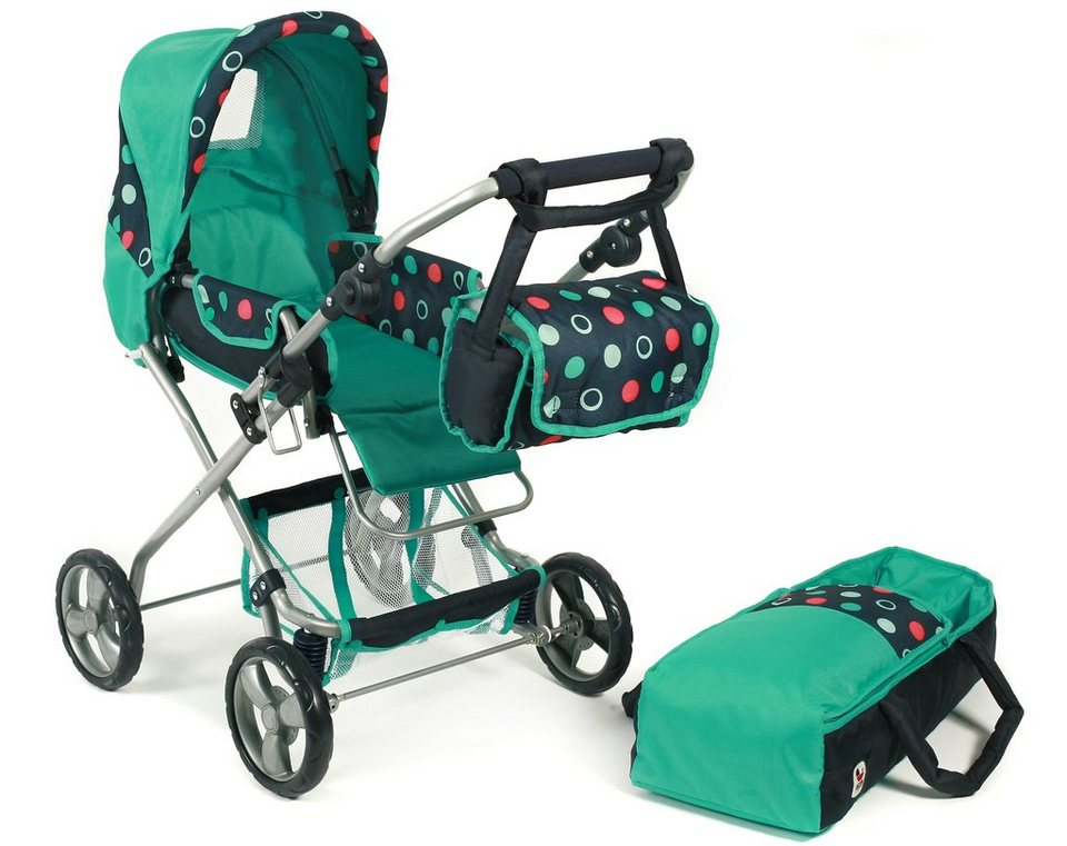 chic2000 puppenwagen mit umh ngetasche bambina menta online kaufen otto. Black Bedroom Furniture Sets. Home Design Ideas