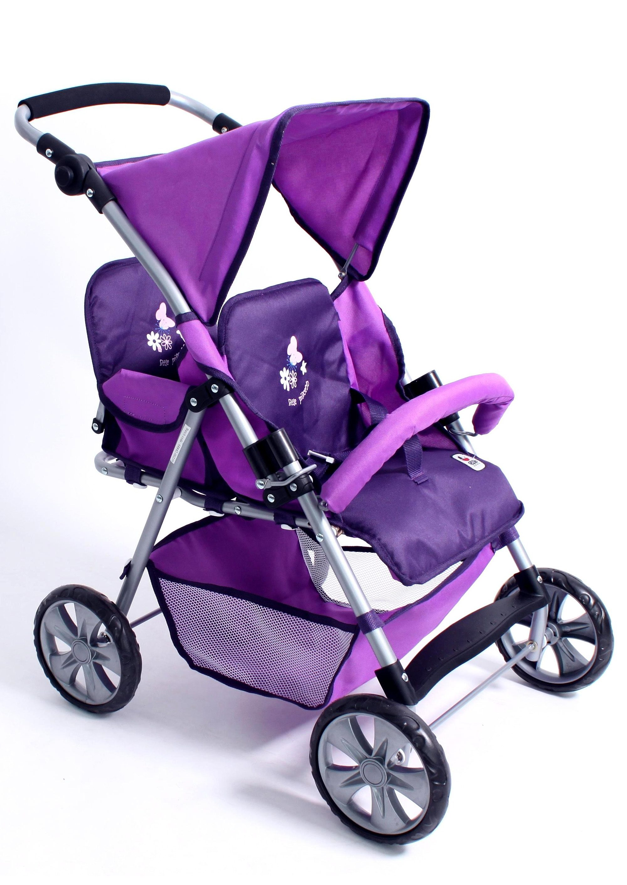 CHIC2000 Zwillings-Puppen-Buggy, »Tandem, Pflaume«