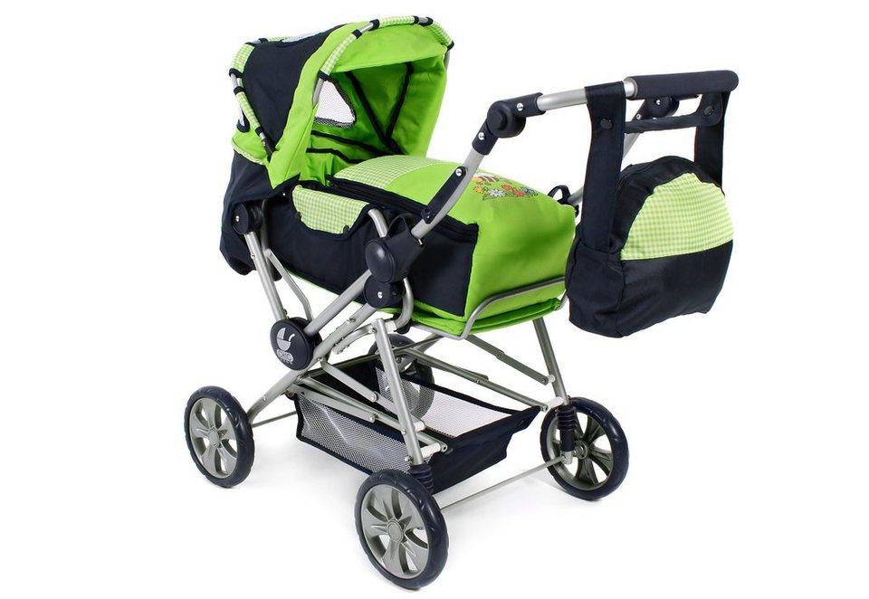 CHIC2000 Puppenwagen mit Wickeltasche, »Road Star, Bumblebee« in grün