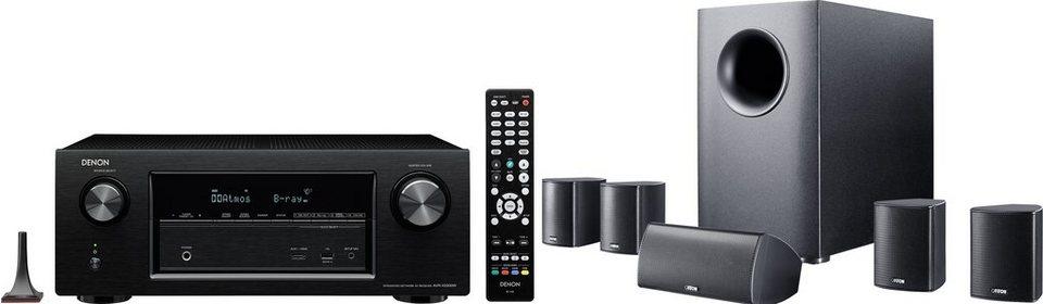 Denon Receiver AVR-X2200W + Lautsprecher Canton Movie 135 5.1 Heimkinosystem (Multiroom, WLAN) in schwarz