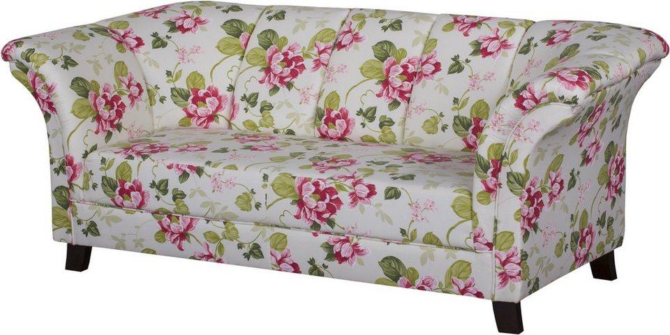 Home affaire Retro Sofa, rosa geblümt