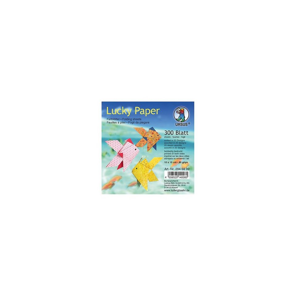 URSUS Faltblätter Lucky Paper, 10 x 10 cm, 300 Blatt