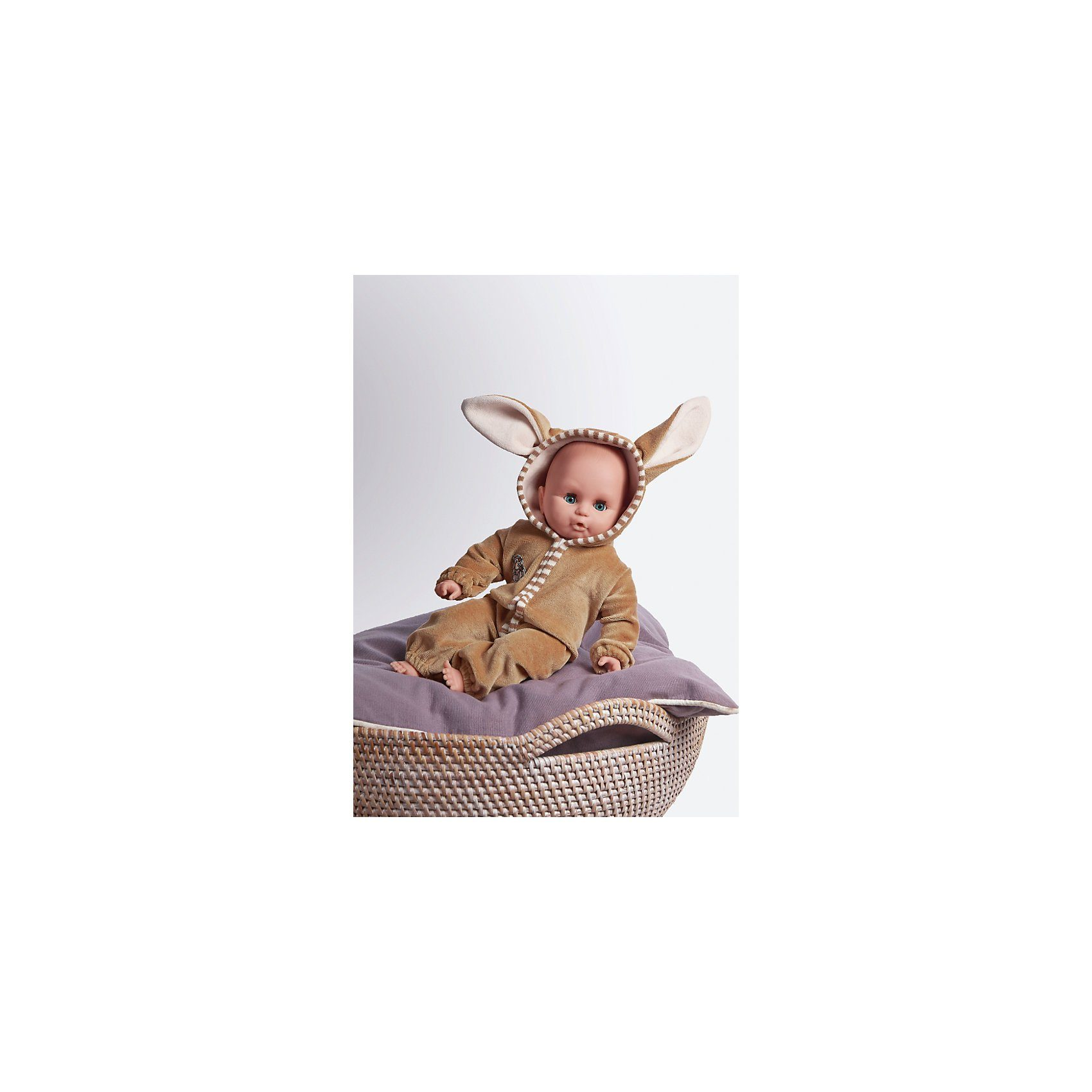 Emil Schwenk Babypuppe im Hasenoutfit, 32 cm