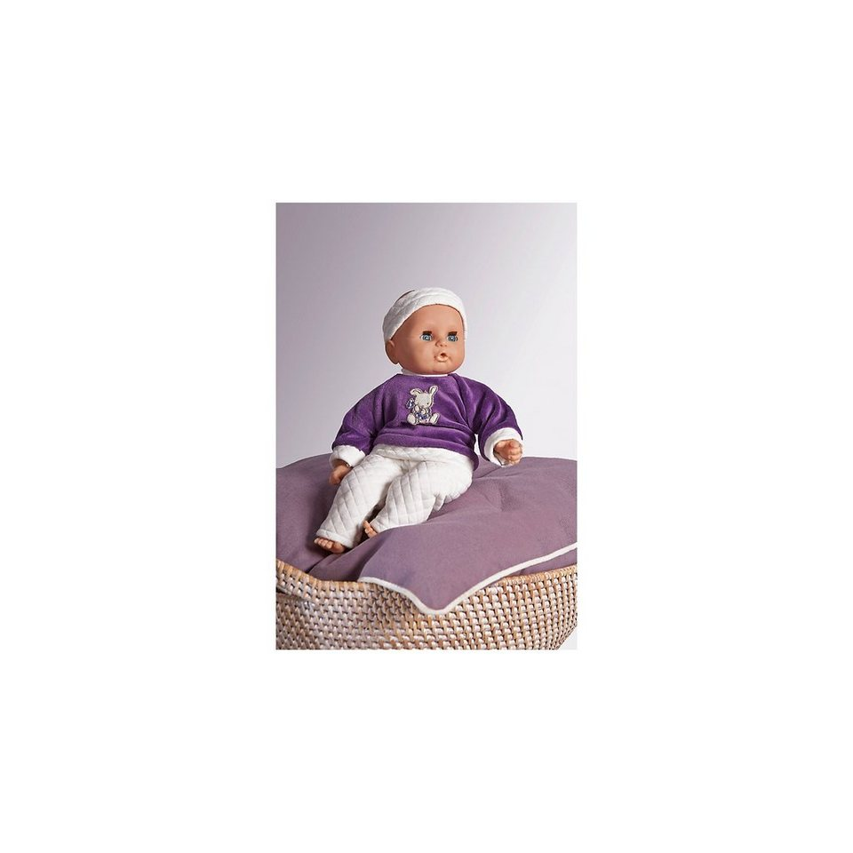 Emil Schwenk Babypuppe mit lila Outfit, 32 cm