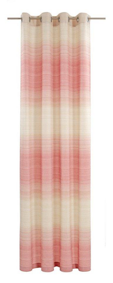 Vorhang, deko trends, »Flow« (1 Stück) in wollweiss/sand/rot