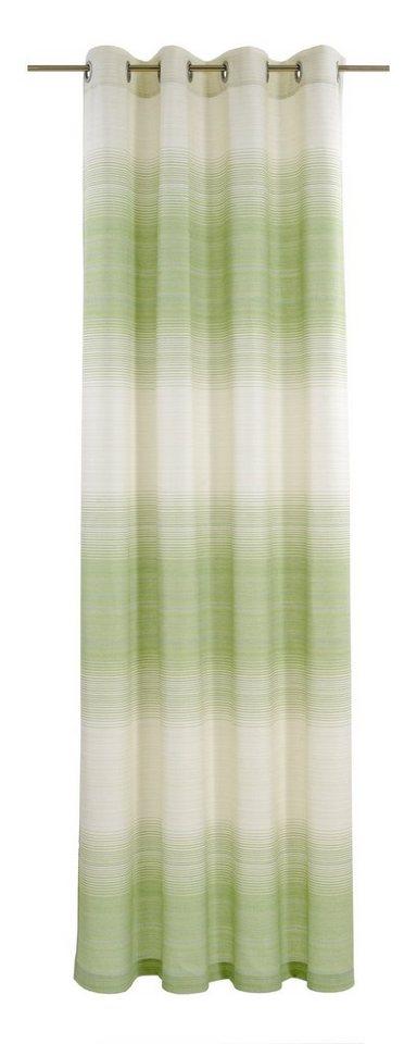 Vorhang, deko trends, »Flow« (1 Stück) in wollweiss/natur/grün