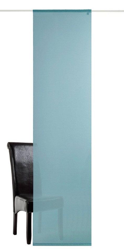 Schiebegardine, deko trends, »Saros« (1 Stück mit Zubehör) in blau