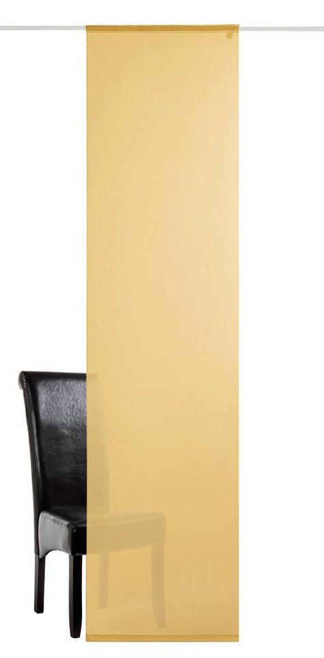 Schiebegardine, deko trends, »Saros« (1 Stück mit Zubehör) in gelb