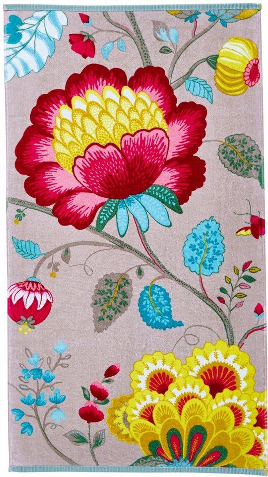 Handtücher, PiP Studio, »Floral Fantasy«, mit großen Blüten in khaki