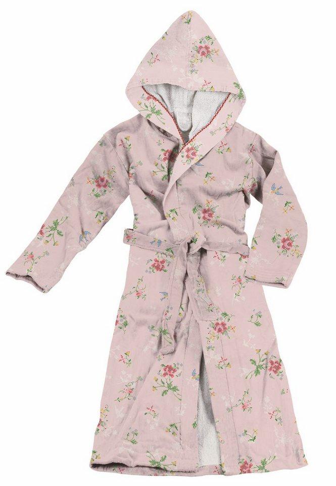 Damenbademantel, PiP Studio, »Granny Pip«, in Stickerei-Optik in pink