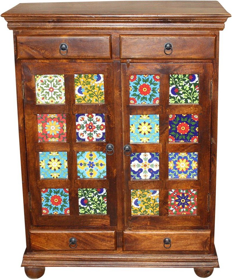 Home affaire Highboard »Bombay« in braun/bunt