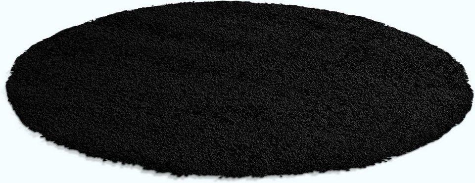 Hochflor-Teppich rund, Trend-Teppiche, »Shaggy 8000«, Höhe 30 mm in schwarz