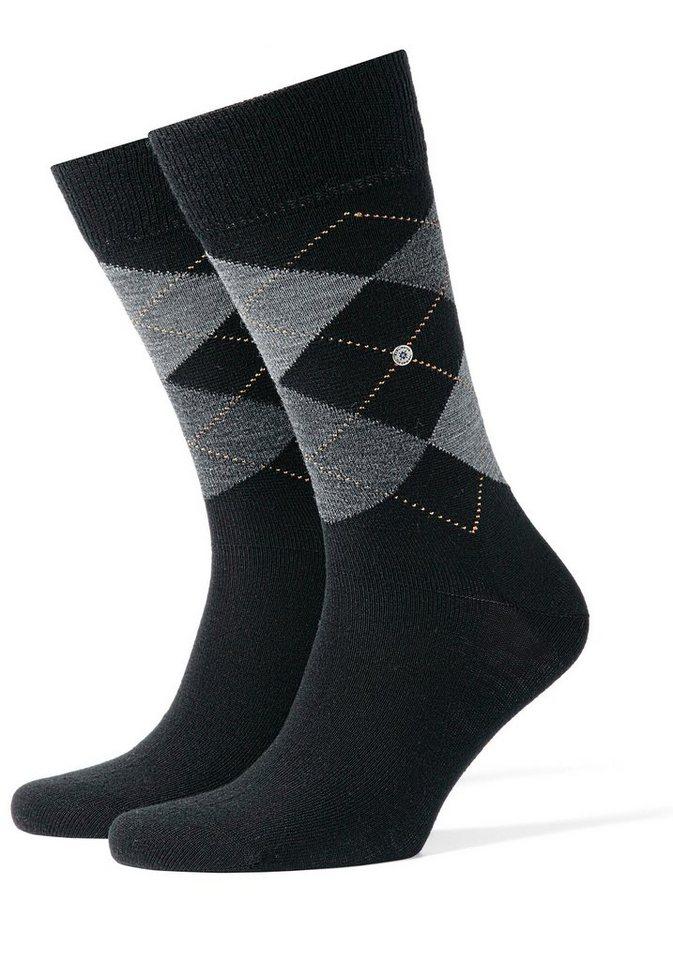 Burlington Klassische Socken »Edinburgh« Feine Schurwolle in 1x black