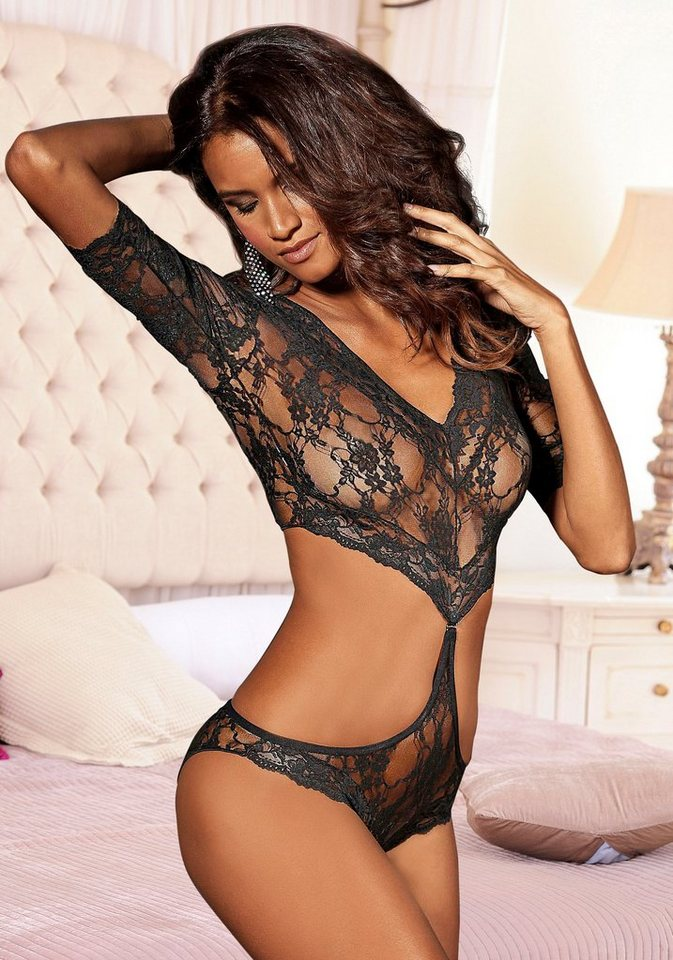 JETTE Body + String (3-tlg.) in schwarz