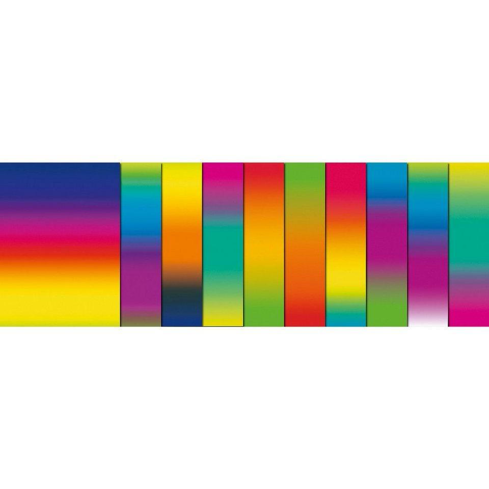 URSUS Regenbogen-Tonkarton, 10 Blatt, beidseitig bedruckt