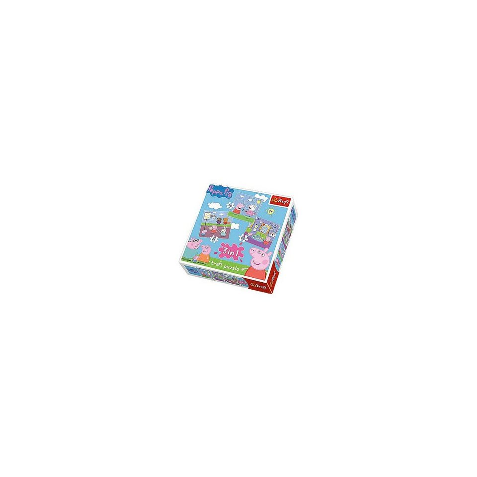 Trefl 3in1 Puzzle 20/36/50 Teile - Peppa Pig