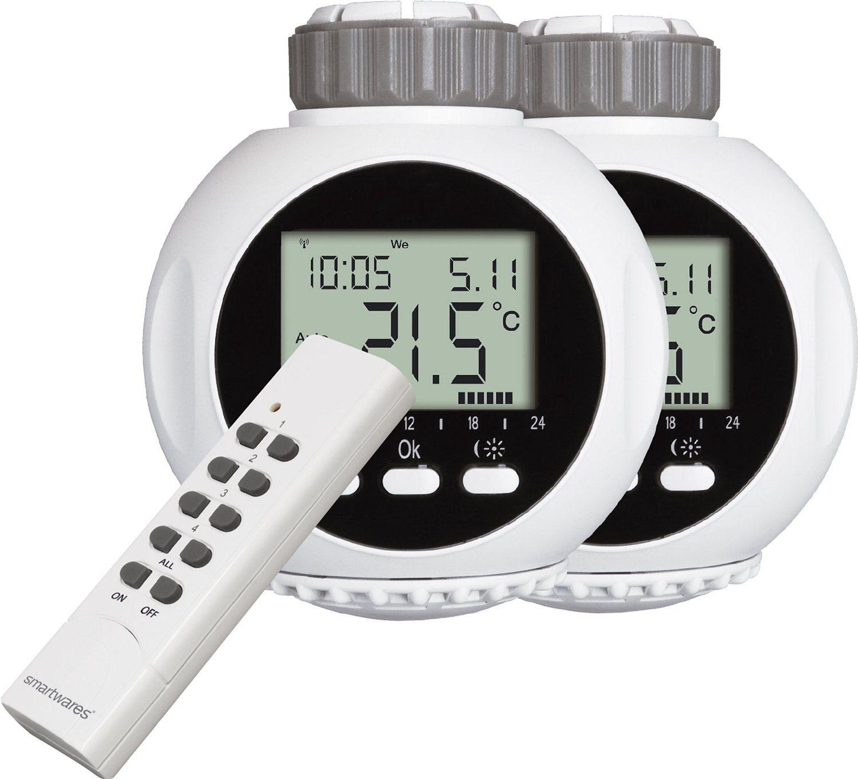 smartwares Smart Home Energie & Komfort - Set 2 Heizkörperthermostate, 1 FB »SHS-53002-EU«