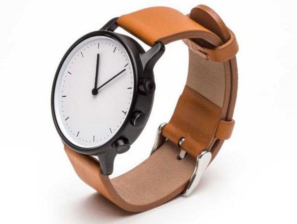 Nevo Smartwatch »New York (L) - Fitness Watch« in Schwarz-Hellbraun