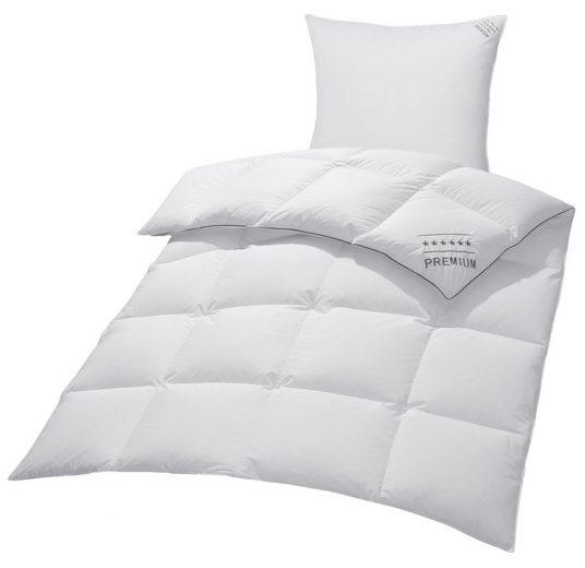 Gänsedaunenbettdecke + Kopfkissen, »Premium Tim«, my home, warm, Material Füllung: Gänsedaune/-feder, (Spar-Set), extra weiches Gewebe und weiche Füllung