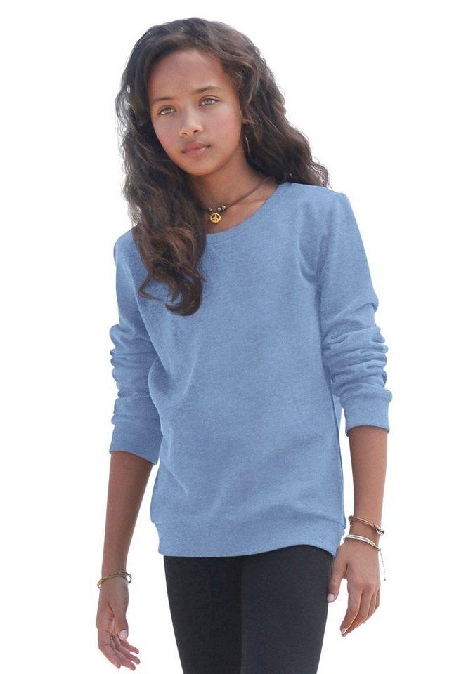 KIDSWORLD Sweatshirt in hellblau-meliert