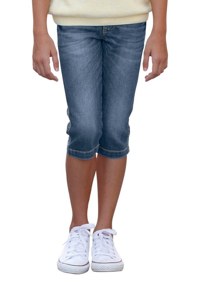 Arizona Caprijeans in blue-denim