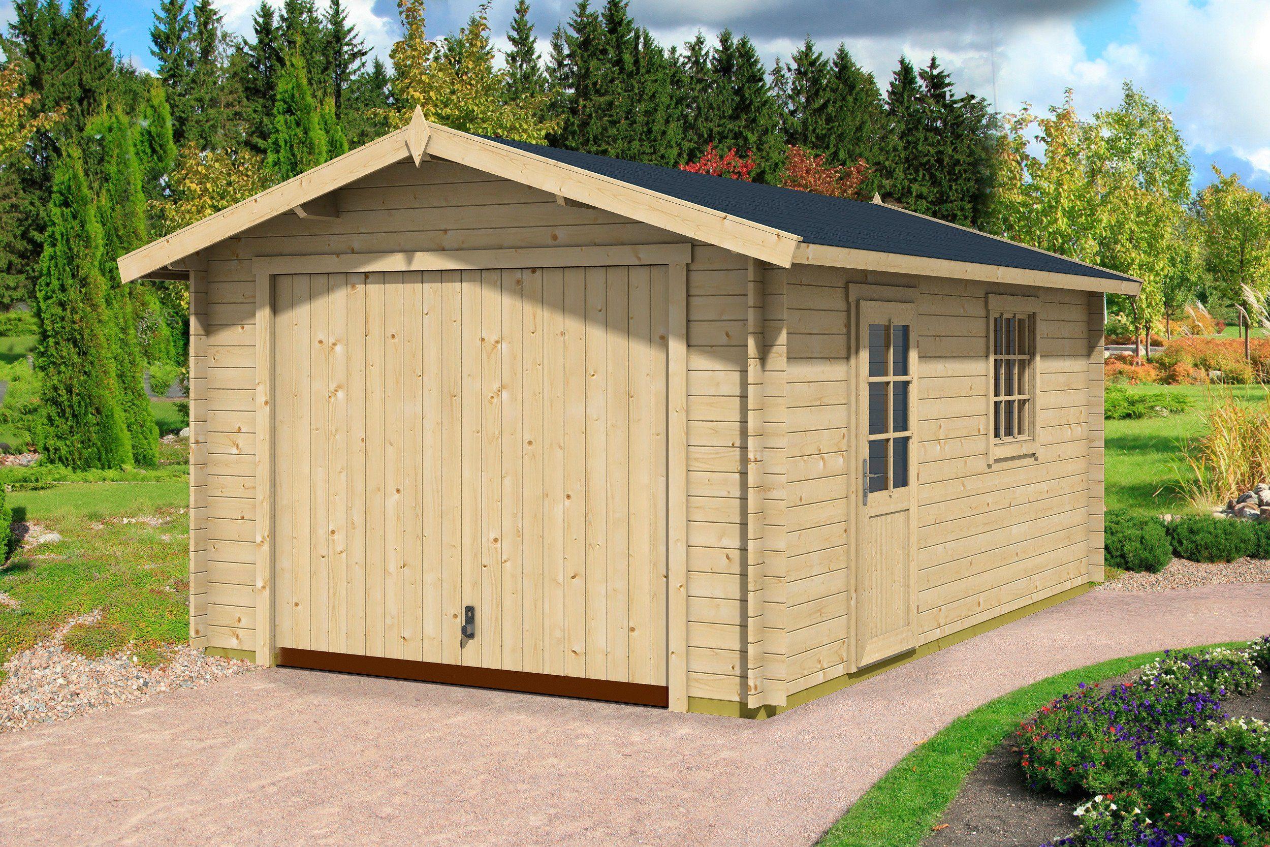 Einzel-Garage »Mauritius«, BxT: 380x560 cm, 28 mm