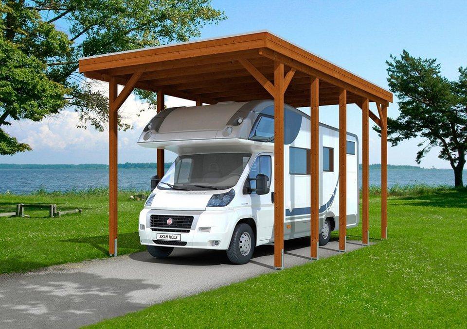 Skanholz Einzelcarport »Caravan-Friesland«, BxT: 397x708 cm, braun in braun