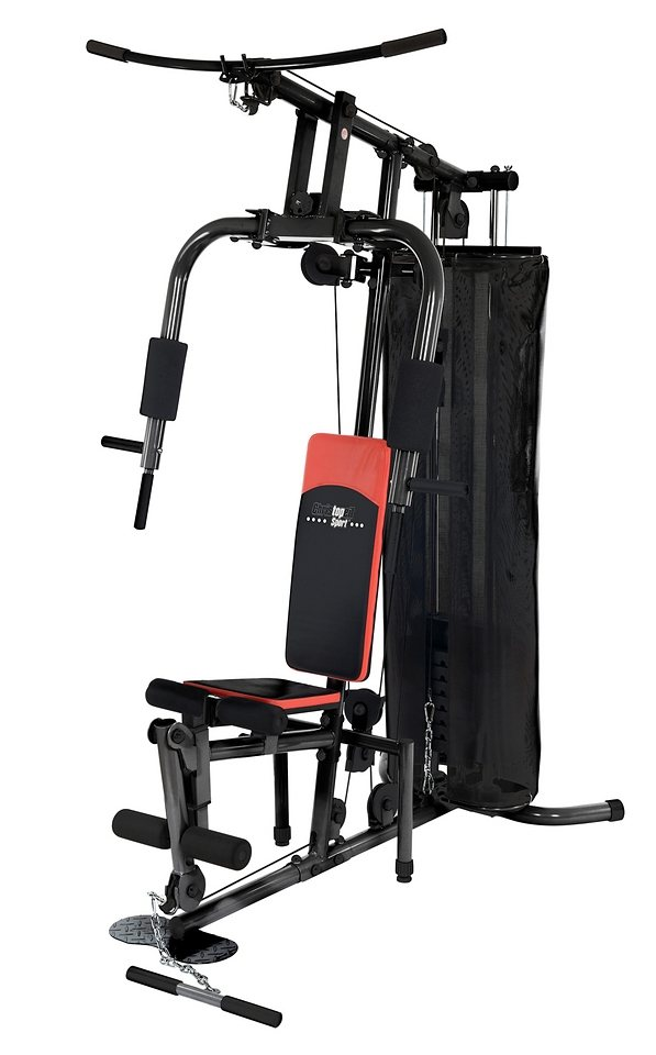Fitness-Station, inkl. Trainingshandschuhe, Christopeit Sport®, »SP 10 de Luxe« in schwarz