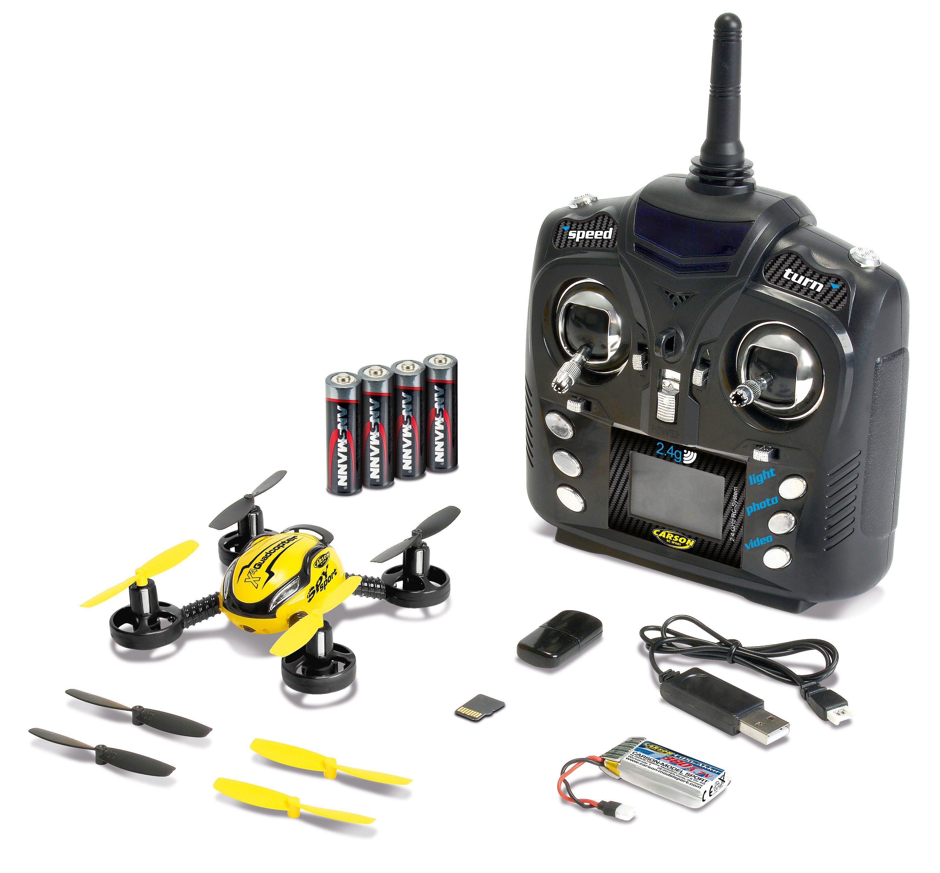 Carson RC-Komplett-Set, »X4 Quadcopter SPY sport 2,4 GHz RTF«