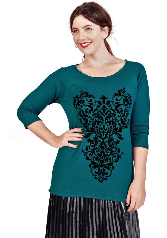sheego Trend Pullover in petrol