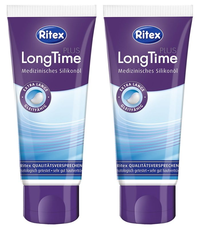 Ritex Gleit- & Massageöl »LongTime PLUS«, 2x60 ml