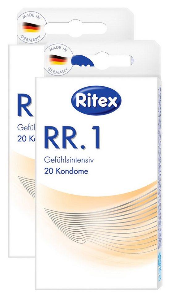 Ritex Kondome »RR.1«, 2x20er/3x20er Packung