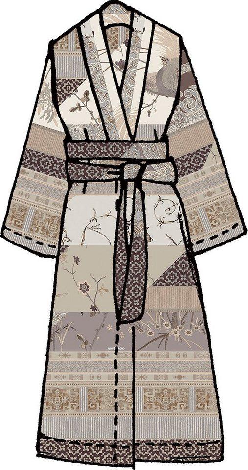 Kimono, Bassetti, »Grancollage«, im Mustermix in braun
