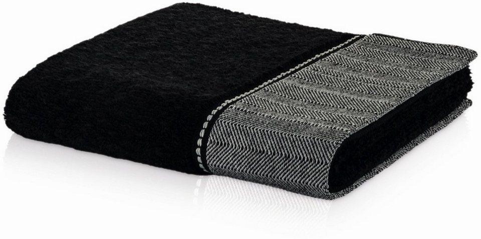 badetuch m ve brooklyn uni mit fischgratbord re online kaufen otto. Black Bedroom Furniture Sets. Home Design Ideas