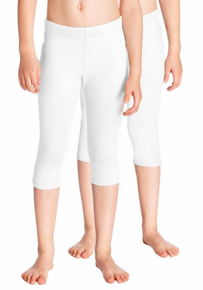 KIDSWORLD Leggings 3/4 lang (Packung, 2 tlg.) in weiß