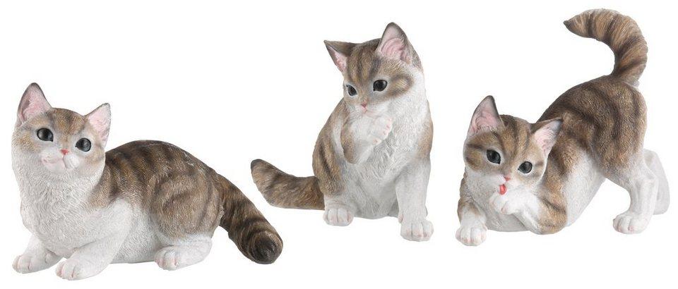 Home affaire, Dekofigur, »spielende Katzen«, (3-tlg.) in bunt