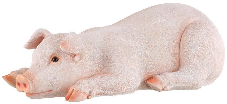 Home affaire, Dekofigur, »Schwein liegend« in rosa