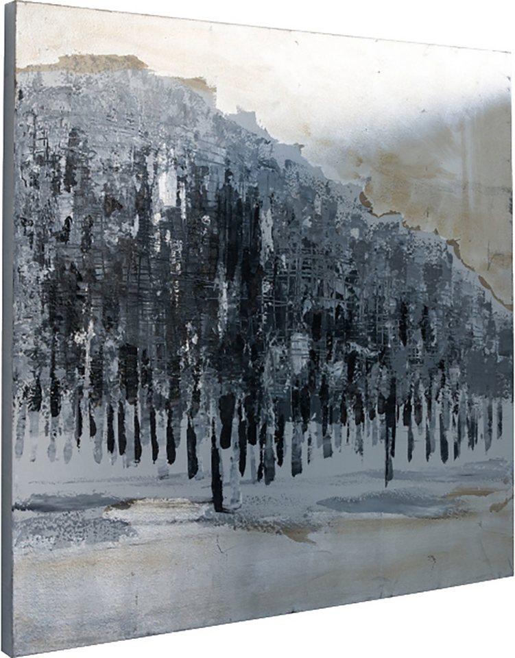 Home affaire Bild »Silver Forest«, 80/80 cm in grau