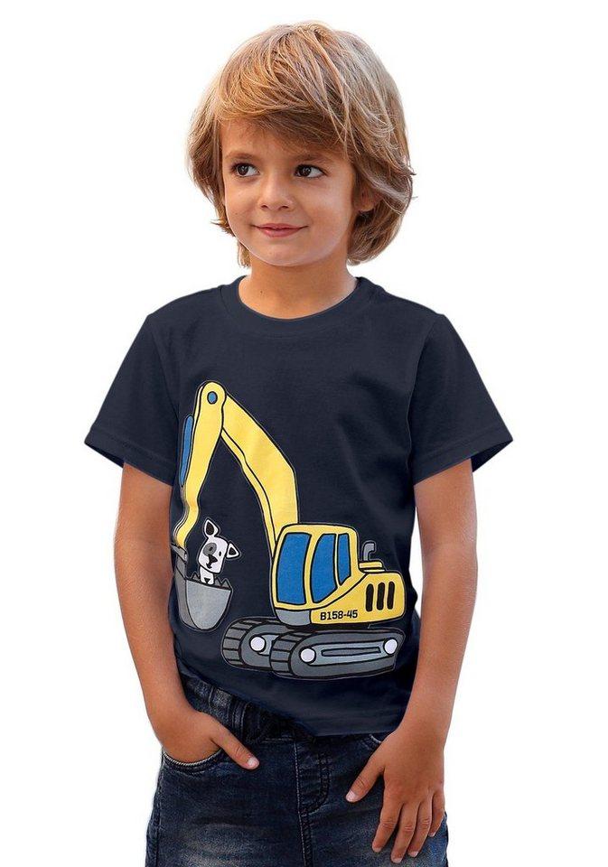"""KIDSWORLD T-Shirt """"Bagger"""" in marine"""