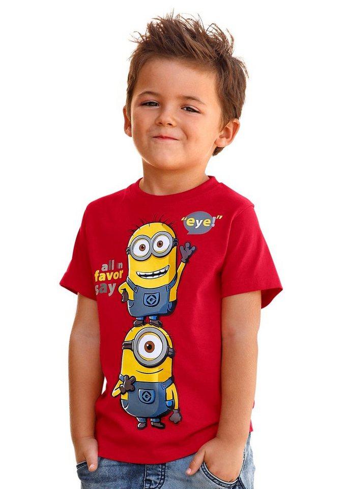 """Minions T-Shirt mit """"Minions"""" Druck in rot"""