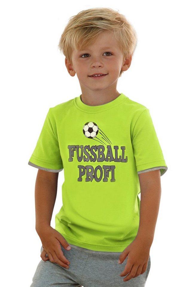 CFL T-Shirt mit Fußballmotiv in neongrün