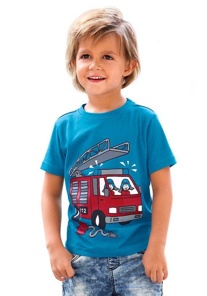 """KIDSWORLD T-Shirt """"Feuerwehr"""" in türkis"""