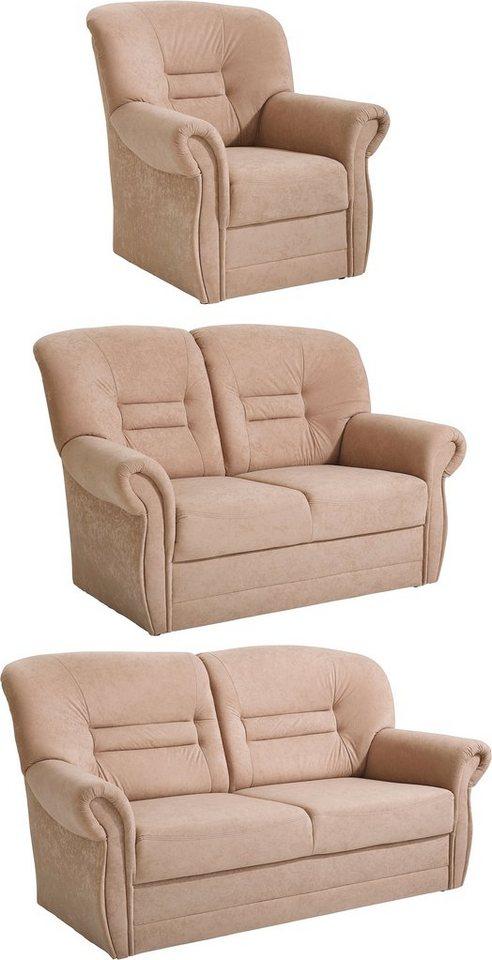 Benformato Home Garnitur, 3- und 2-Sitzer und Sessel in cafe
