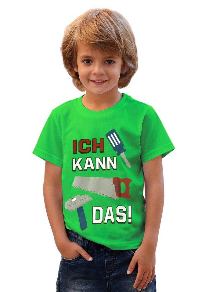 """KIDSWORLD T-Shirt """"Ich kann das"""" in grün"""