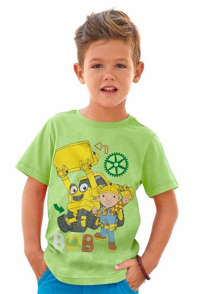 "Bob der Baumeister T-Shirt ""BOB"" in limette-grün"
