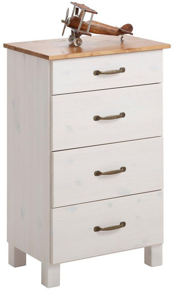 Home affaire Kommode »Jever«, Breite 50 cm in weiß-honigfarben